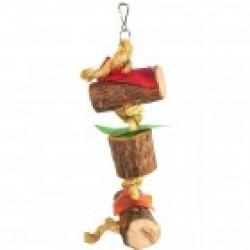 Παιχνίδι παπαγάλου HAPPY PET NATURAL WOOD 3 -41cm