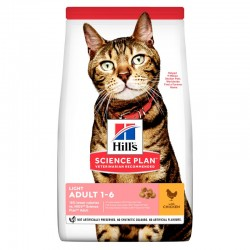 Hill's Science Plan Adult Light Τροφή Για Γάτες Με Κοτόπουλο 1.5kg