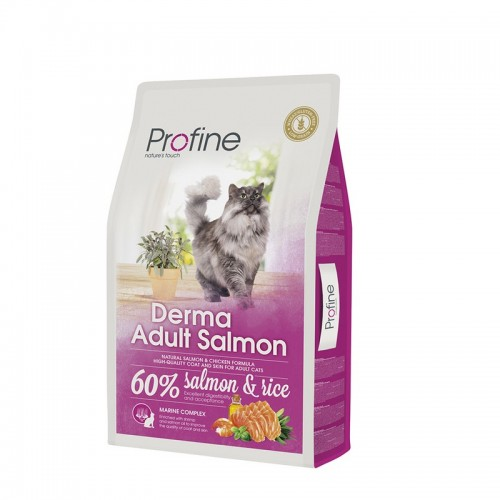 Profine Adult Cat Derma Salmon & Rice 10kg