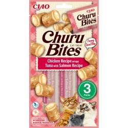 Inaba Churu Bites Tuna and Salmon Recipe 3 x 10g mini bags