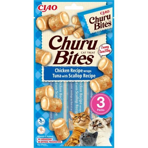 Inaba Churu Bites Tuna and Scallop Recipe 3 x 10g mini bags