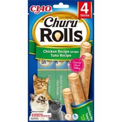 Inaba Churu Rolls Chicken and Tuna Recipe 10 sticks