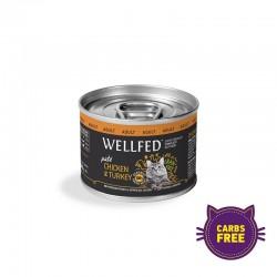 Wellfed Adult - Chicken & Turkey 200gr