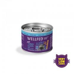 Wellfed Sterilised-Turkey & Duck Hairball Care 200gr