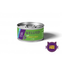 Wellfed-Young Sterilized Turkey & Beef 100gr
