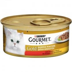 Purina Gourmet Gold Double Pleasure Βοδινό & Κοτόπουλο 85gr