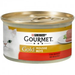 Purina Gourmet Gold Mousse Βοδινό 85gr
