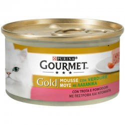 Purina Gourmet Gold Mousse Πέστροφα & Ντομάτα 85gr