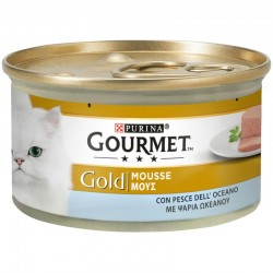Purina Gourmet Gold Mousse Ψάρια Ωκεανού 85gr