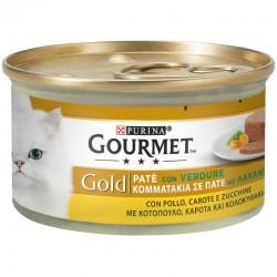 Purina Gourmet Gold Pate Κοτόπουλο Καρότο και Κολοκυθάκια 85gr
