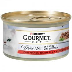 Purina Gourmet Diamant Φιλετάκια σε σάλτσα Βοδινό 85gr