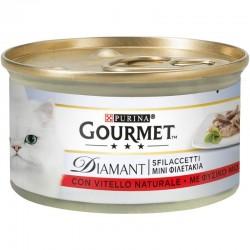 Purina Gourmet Diamant Φιλετάκια σε σάλτσα Μοσχάρι 85gr