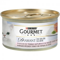 Purina Gourmet Diamant Φιλετάκια σε  ζελέ Τόνος & Γαρίδες 85gr