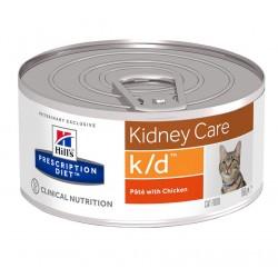 Hill's Prescription Diet k/d Kidney Care Τροφή Για Γάτες Με Κοτόπουλο 156gr