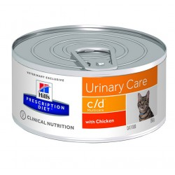 Hill's Prescription Diet c/d Multicare Urinary Care Τροφή Για Γάτες Με Κοτόπουλο 156gr