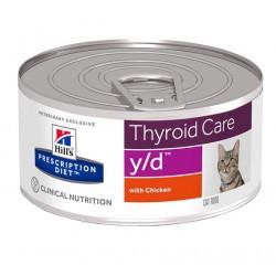 Hill's Prescription Diet y/d Thyroid Care Τροφή Για Γάτες Με Κοτόπουλο 156gr