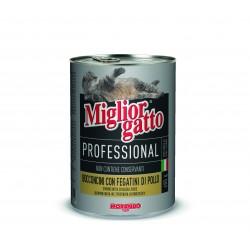 Κομματάκια MigliorGatto Professional Κοτόπουλο-Γαλοπούλα 400gr