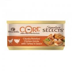 Wellness Core Signature Select Chunky Κοτόπουλο & Γαλοπούλα σε Σάλτσα 79gr