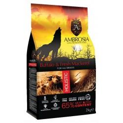 Ambrosia Grain Free Adult Buffalo-Mackerel 12Kg