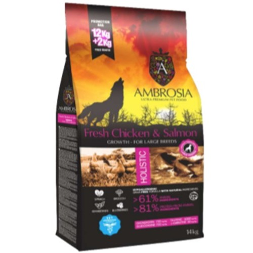 Ambrosia Grain Free Puppy Large Fresh Chicken-Salmon 12kg