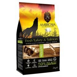 Ambrosia Grain-Free Senior Light Sterilized Turkey-Fresh Salmon 2kg