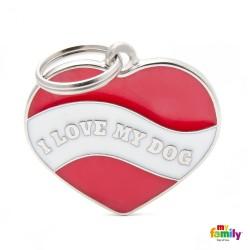 Ταυτότητα Charms Καρδιά I Love My Dog