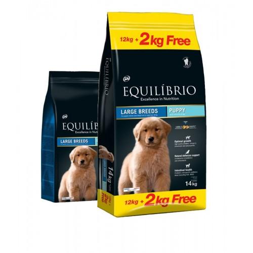 Equilibrio Puppy Large Breeds 12kg + 2kg Δώρο