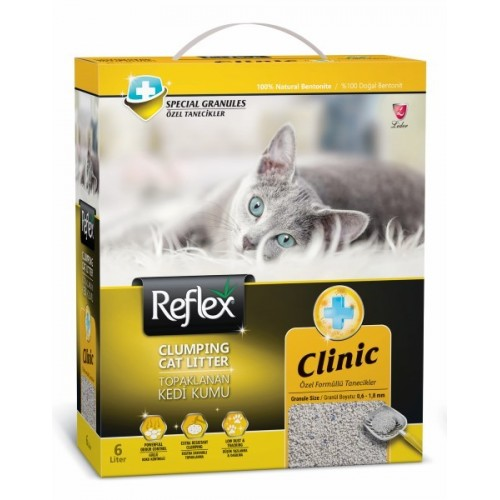 Άμμος Γάτας Reflex Clumping Cat Litter - Clinic 6lt
