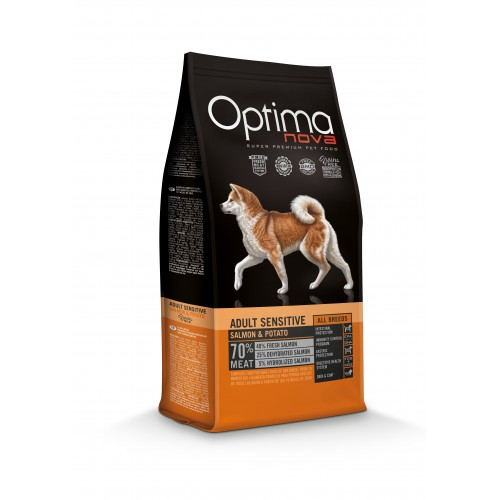 Optima Nova Adult Sensitive Salmon-Potato 12kg