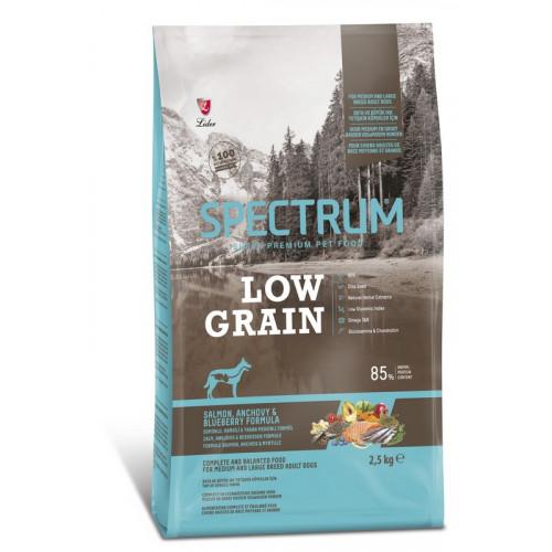 Ξηρά Τροφή Spectrum Low Grain Adult Medium-Large Salmon-Anchovy-Blueberry 12kg
